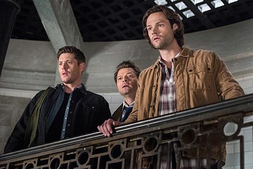 Jensen Ackles, Misha Collins, and Jared Padalecki